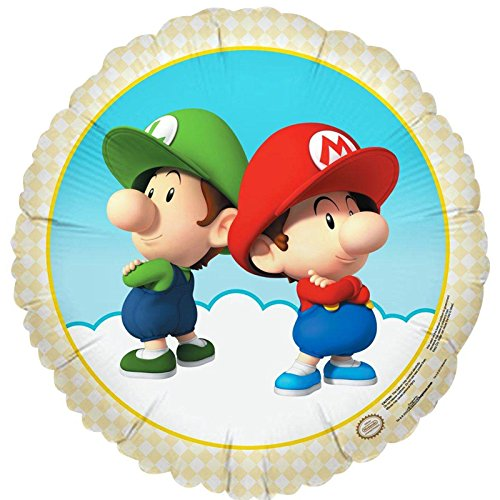 Super Mario Bros Babies Party Supplies Foil Balloon
