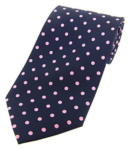 Tie Soprano Navy Polka Dot Silk Vintage Pink and 8gaxr08q