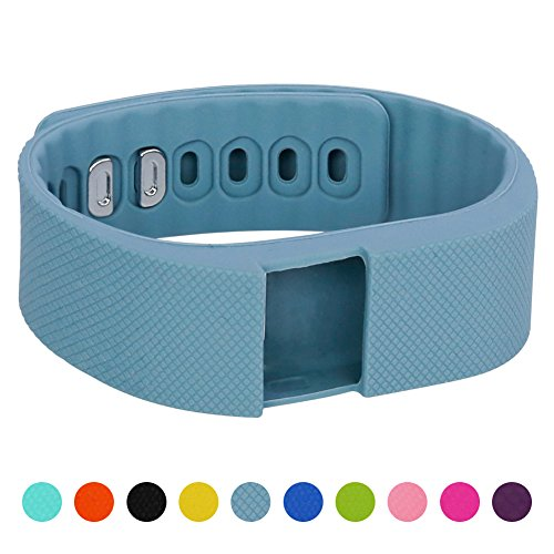 Soft Silicone Band for Teslasz Fitness Tracker in 10 Colors,Blue-Grey