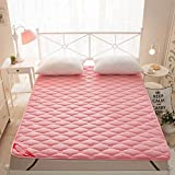 Full cotton thin folded bedding bed mat student dormitory single sleeping mat double air defense sliding pad-A 200x220cm(79x87inch)