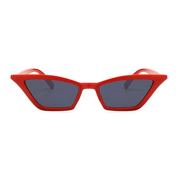 Gafas de Sol Polarizadas Konwa Vintage Gafas de Sol Cat Eye, Gafas de Sol Gafas Transparente Plastic Vintage Personalizada, Guía de Moda - Marco Rojo y ...