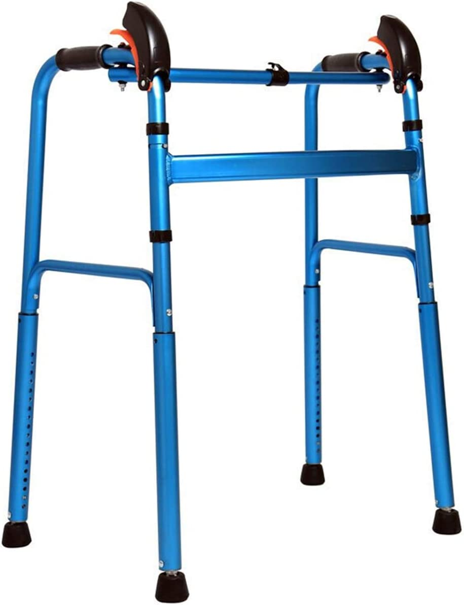 Autopeck Down Stairs Walker Climbing Standard Walkers Walking Folding Aluminium Lightweight Mobility Aid Old Disabled -