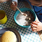 EKOBO Kids Bamboo 4-piece Dish Set, Gift Box, BIOBU Eco-material, Assorted Colors