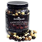 Chocolate Espresso Bean Blend – White, Milk & Dark Chocolate – 3lb Jar – by Dilettante