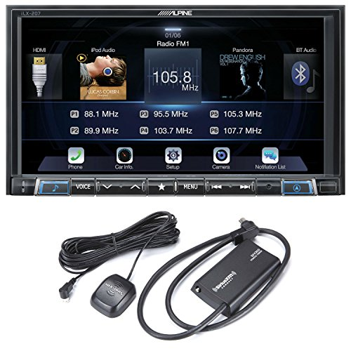 Alpine iLX-207 7-Inch Mech-less for Apple Car Play Android Auto Audio/Video system with SiriusXM Satellite Radio Tuner