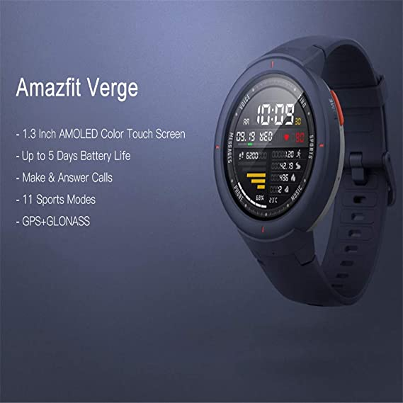 LARDOO Smartwatch Pantalla AMOLED de 1.3 Pulgadas Marcar y ...
