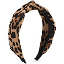 Bow Knotted Widened Hair Band Dots Leopard Print Rabbit Ears Head Hoop Headwear
