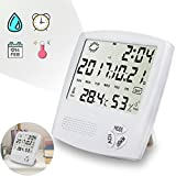 Kecess Hygrometer Indoor Thermometer Hygrometer Digital Hygrometer Monitor Temperature Humidity Gauge (White)