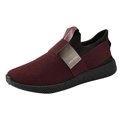 fe5e3c3f38eab WWricotta LuckyGirls Zapatillas de Correr Hombre Originales Casual Moda  Cómodas Calzado para Deporte Zapatos con Cordones