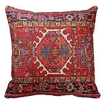 18 x 18 Photo Print Of Antique Oriental Turkish Carpet Decorative Throw Pillow Case Cushion Cover