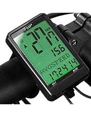 IPSXP Fietscomputer Fietscomputer Wired Snelheidsmeter en Kilometerteller Waterdichte Backlight met Digitaal Lcd-scherm voor Outdoor Fietsen en Fitness Multifunctionele Geschenken voor Bikers/Mannen/Vrouwen/Tieners