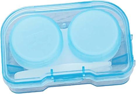 Noyokere Estuche de Lentes de Contacto de plástico Transparente de Bolsillo al Azar Color Kit de Viaje Recipiente fácil Tenedor de Gafas: Amazon.es: Deportes y aire libre