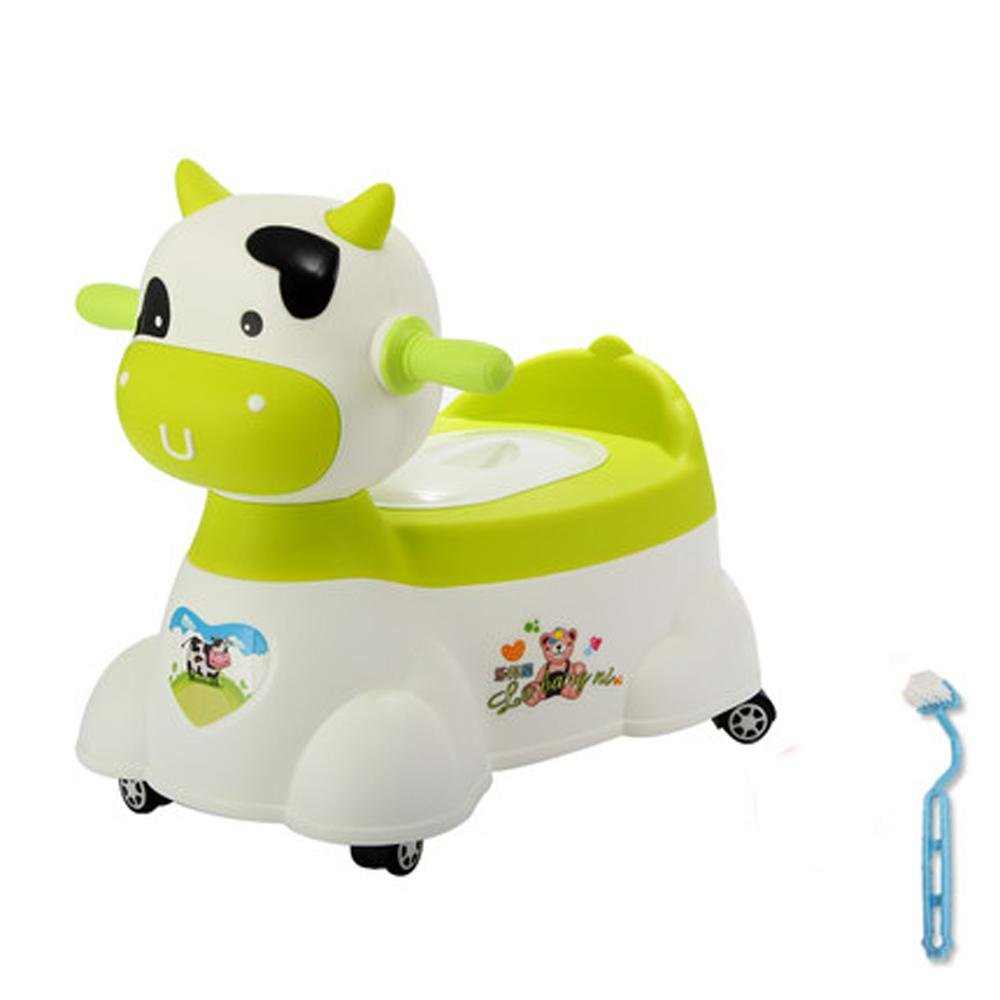 ALXD Toddler Toilet Chair Toilet Seat Kid Potty Training Toilet Child Toilet Trainer Toilet Training with Splash Guard, Cartoon Image, Music Play Function,Encourage Baby to be Independent, F