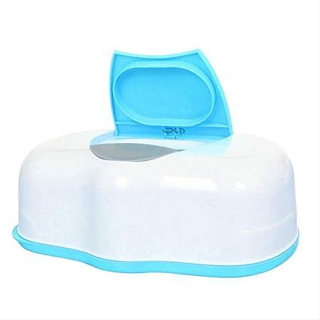 Caja de pañuelos húmeda Estuche automático de plástico Estuche de pañuelos reales Toallitas para bebés Prensa Diseño pop-up Accesorios para portapapeles en el hogar AZUL: Amazon.es: Hogar