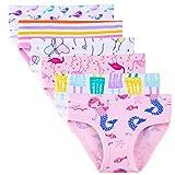 2T-8T Girls Kids Series Panty Soft Cotton Briefs 6 Pack Toddler Girl's Underwear (Assorted F, Girls F 3-4Y110)