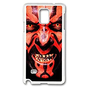 Special & Simple Design Star Wars Hard Plastic Case Cover for Samsung Galaxy Note 4 with Image _White 30301