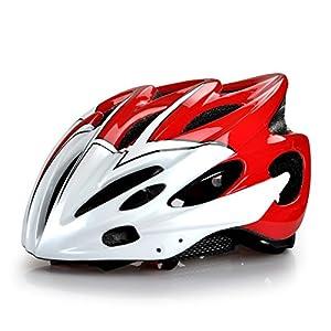 Rennrad Fahrradhelm für Erwachsene/ Männer/ Frauen Fahrradschutzhelm in rot...