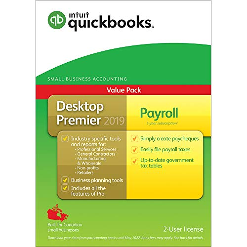 QuickBooks ® Desktop Premier 2019 with Payroll –Accounting for sale  Delivered anywhere in Canada
