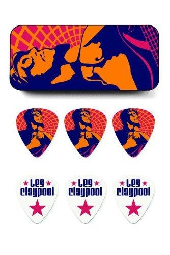 Dunlop LCPPT01M Les Claypool Pick Tin, Assorted, Medium, 6 Picks/Tin