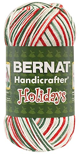 Bernat Christmas Holiday Yarn 100% Cotton Mistletoe Ombre Jumbo Ball 12 oz #4 Medium Worsted