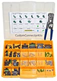 Delphi Weather Pack Connector Kit WP-155 With Pro Tool: Sealed Weatherproof Automotive Electrical Connectors 20-12 Gauge 155 Piece Kit With 12014254 Pro Crimp Tool