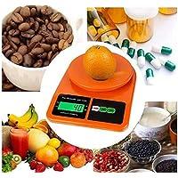 Generic Electronic Kitchen Digital Weighing Scale, Multipurpose (Orange), 10 Kg)