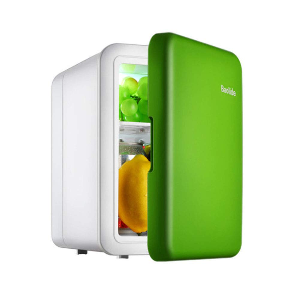 HM&DX Mini Fridge Cooler and Warmer,Electric ThermoElectric Compact Mini Refrigerator for Car Home Dorm Room Office -Green 4L