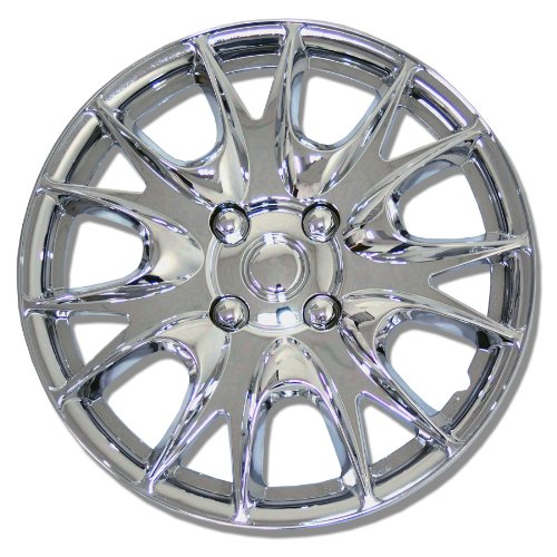 TuningPros WC-15-3533-C 15-Inches-Chrome Improved Hubcaps Wheel Skin Cover Set of 4