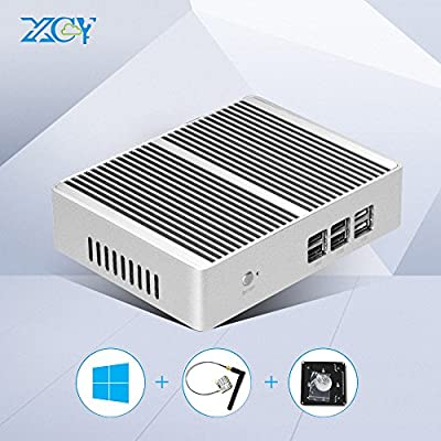 XCY Fanless Aluminium alloy Mini pc Computer Intel Core i3 Desktops Windows 10