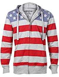 American Republic USA American Flag Stars and Stripes Fleece Hoodie Sweatshirt Jacket