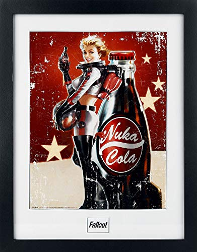 GB eye Fallout 4, Nuka Cola Framed Photograph, Multi-Colour, 16 x 12-Inch by GB Eye Limited