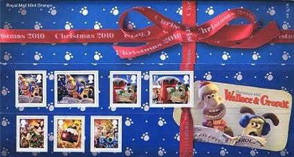 Navidad con WALLACE y GROMIT sellos, presentación paquetes, Mini ...