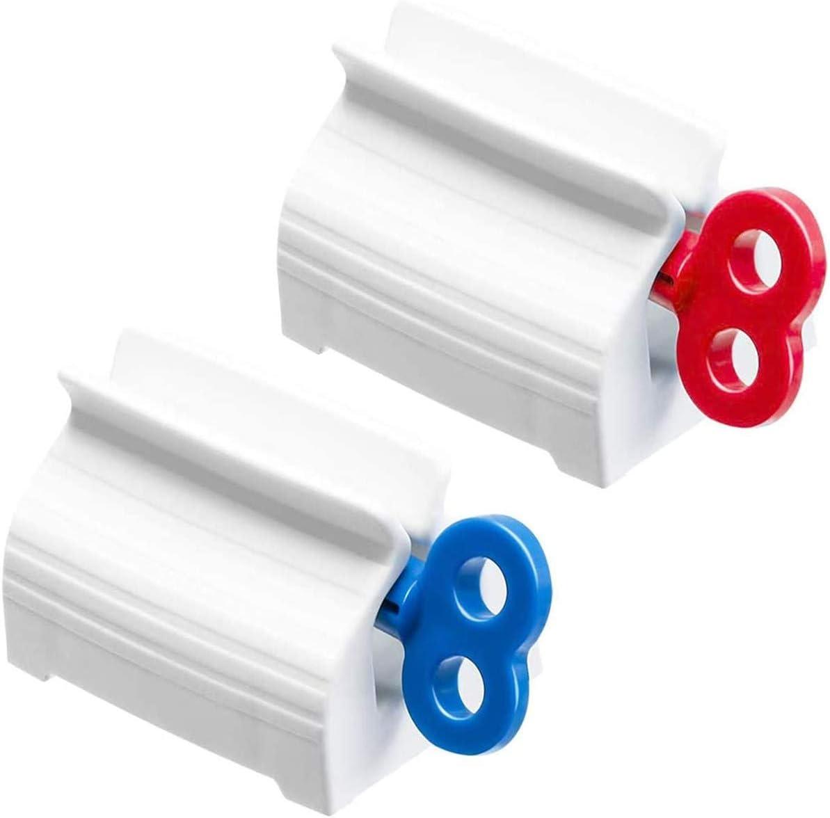 Herramienta Exprimidoras para Pasta de Dientes FLZONE 2 juegos Dispensador de Exprimidor de Tubo de Pasta de Dientes 3 colores, tres tama/ños por juego Clips de Pasta de Dientes de Pl/ástico