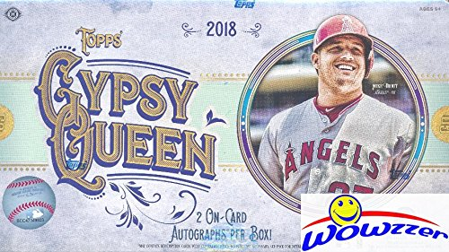 2018 Topps Gypsy Queen Baseball Factory Sealed HOBBY Box with TWO(2) AUTOGRAPHS & Box Topper! Look for Autograph, Memorabilia, Shortprints, Mini Cards & Shohei Ohtani Rookie Cards & Autograph's! ()