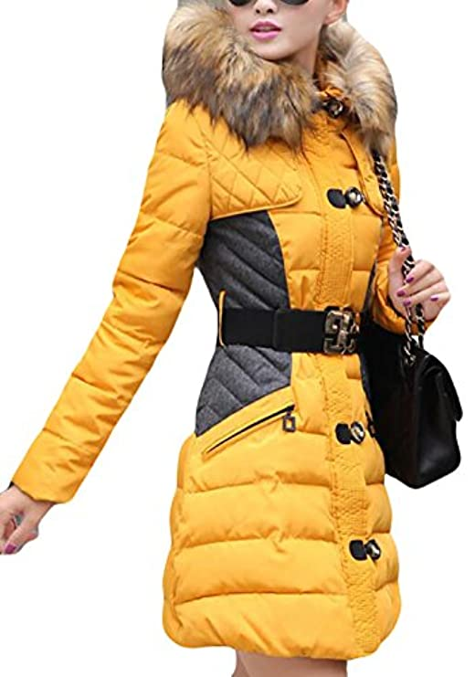 Sleeves Long Con Thicker Women Faux Ainr Winter Piumino Cappuccio Fur 1qPaExw