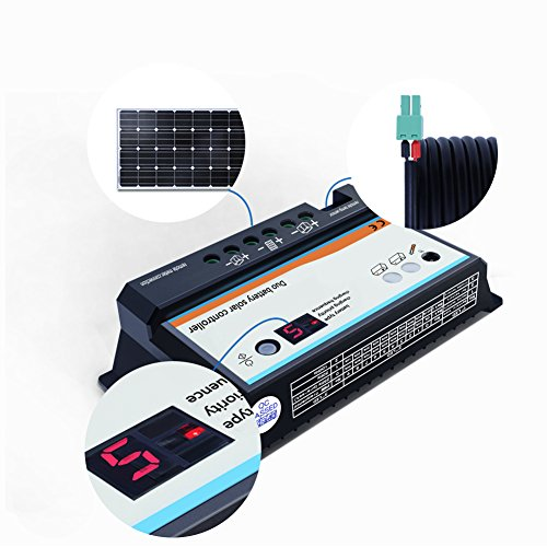EPEVER Dual Battery Solar Charge Controller 20A 12V 24V Duo-Battery Solar Controller for RVs Caravans and Boats by EPEVER (Image #7)