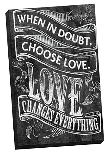 Portfolio Canvas Decor Chalkboard-Choose Love 1 by IHD Studi