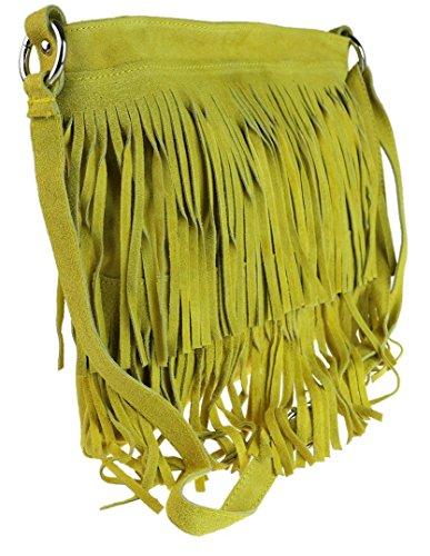 Girly Handbags Bandolera mostaza Bolso Daniela Mujer rrwxqTfZ6a