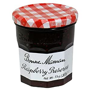 Bonne Maman Raspberry Preserves, 13-Ounce Jars (Pack of 6)