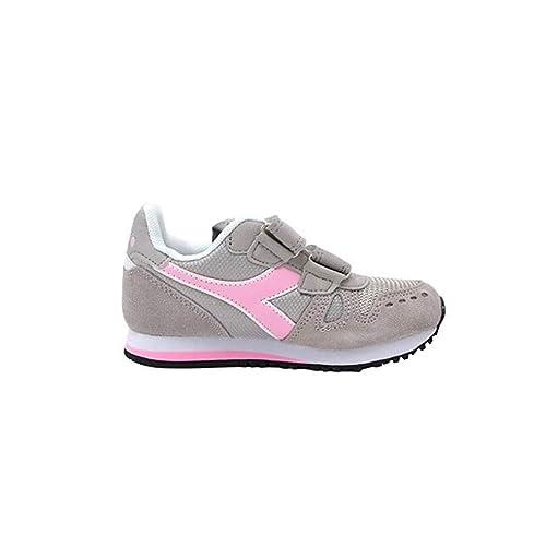 100% di soddisfazione modelli di grande varietà materiale selezionato Diadora Simple Run PS, Scarpe da Ginnastica Bambina, Grey Alaska 174383