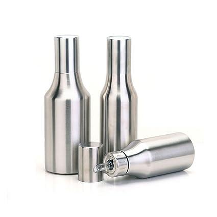 asentechuk® engrasador de acero inoxidable a prueba de fugas botella de aceite dispensador de aceite