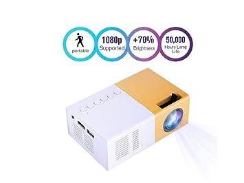 Proyector 1080P HD portátil Mini Proyector de Cine en casa Privado ...