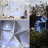 Solar LED String Light, Elevin(TM) 2M 20LED Solar Cork Wine Bottle Stopper Copper Wire String Lights Fairy Lamps (White)