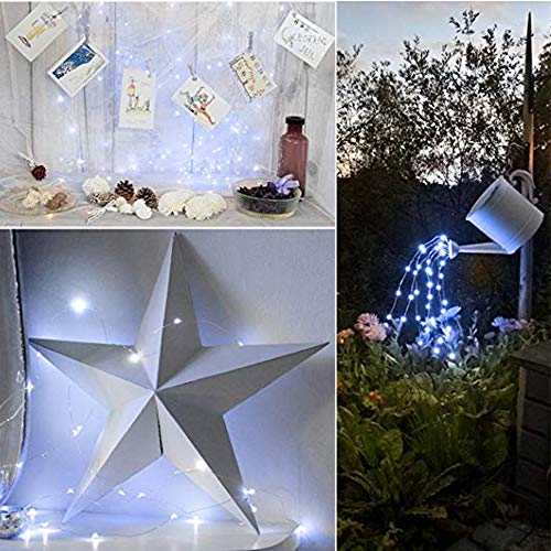 PSFS Star 20 LED String Lights Window Curtain String Light Wedding Party Home Garden Bedroom Outdoor Indoor Wall Decorations, Warm White (6P, G) -