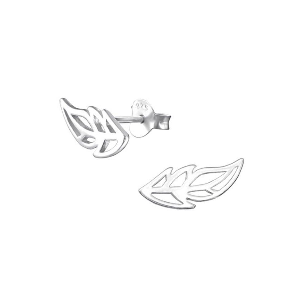 Leaf delicate Ear Studs 925 Sterling Silver