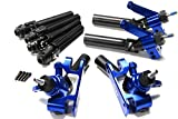 Traxxas SLASH ULTIMATE BLUE ALUMINUM C-HUBS AXLES F R Shafts Platinum 4x4 6804r