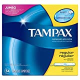 Tampax Cardboard Applicator Tampons, Regular Absorbency, 54 Count (Pack of 2)