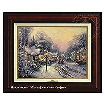 "Thomas Kinkade Village Christmas 12"" x 16"" Canvas Classic (Burl)"