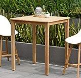 Amazonia Ares 1-Piece Patio Square Bar Table | Teak