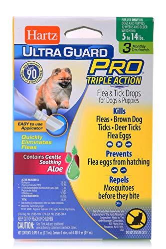 Hartz UltraGuard Pro Flea and Tick Drops for Dogs, 5-14 lbs